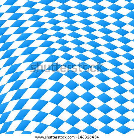 illustration of a diamond pattern in blue and white  - stock photo