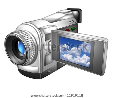 illustration of a digital video camera