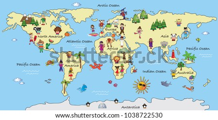 Illustration fantasy world map cartoon stock illustration 1038722530 illustration of a fantasy world map cartoon gumiabroncs Image collections