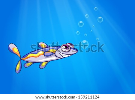 Illustration of a fish under the sea