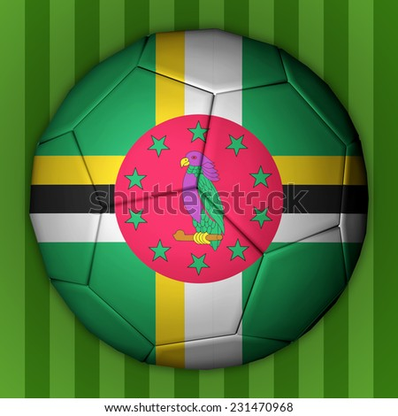 Illustration of a football with flag inside - Dominica