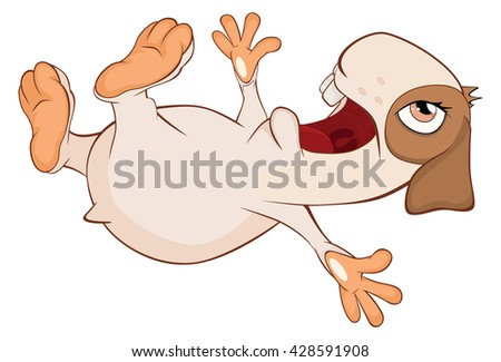 Illustration of a Funny Guinea Pig. Cartoon Character
