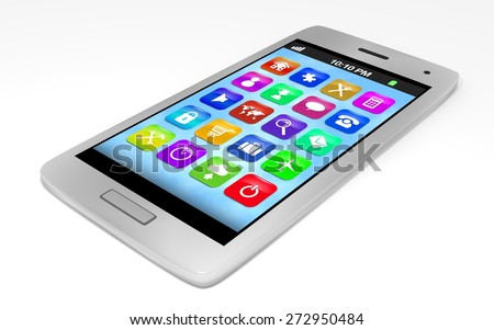 Illustration of a generic smartphone - stock photo