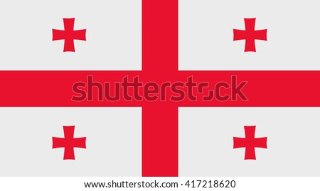 Illustration of a Georgia flag - stock photo