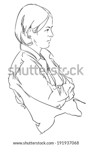 illustration of a girl