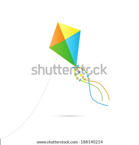 Illustration of a kite isolated on a white background.