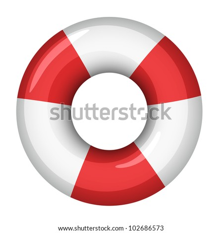 Illustration of a life saver - EPS VECTOR format also available in my portfolio.