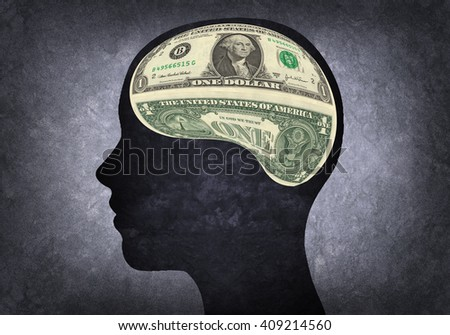 Illustration of a materialistic brain