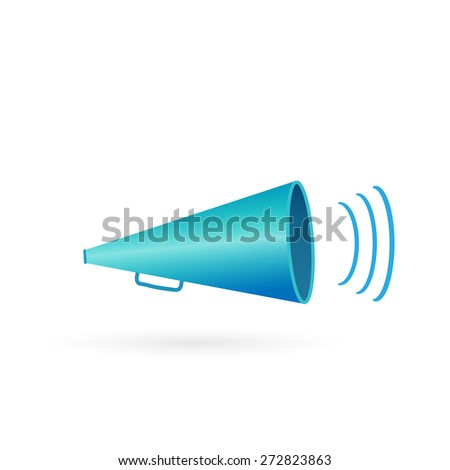 Illustration of a megaphone isolated on a white background.