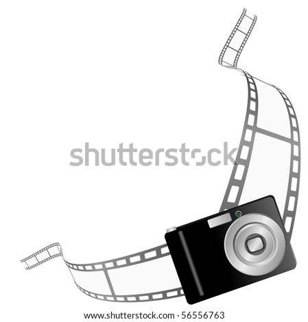 Illustration of a photo camera border - stock photo