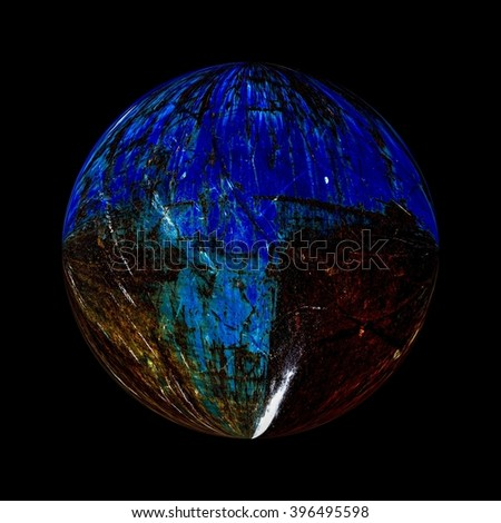 Illustration of a planet in deep space