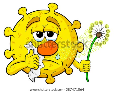 illustration of a pollen with hay fever - stock photo