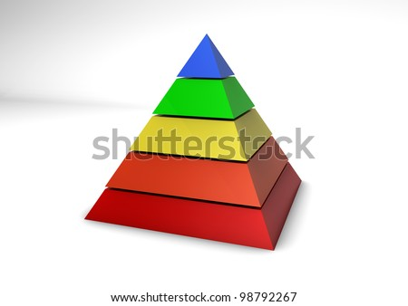 Illustration of a pyramid shape.