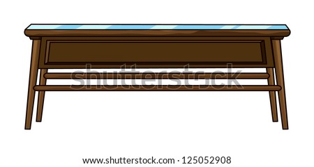 Illustration of a rectangle table on a white background