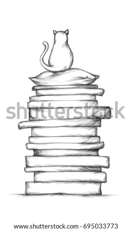 stack of mattresses clipart. illustration of a relaxed cat on mattress stack mattresses clipart