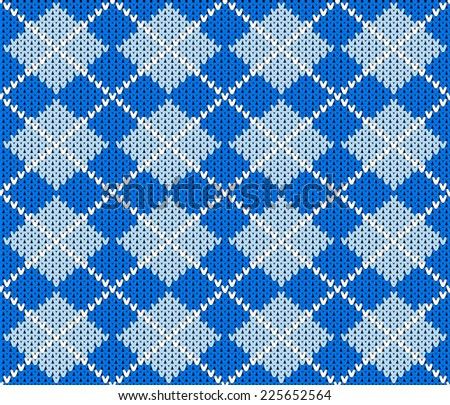 illustration of a seamless knitted argyle sweater background - stock photo
