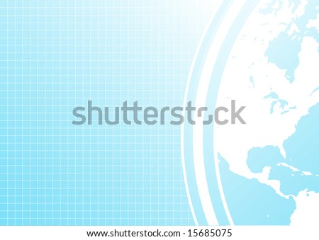 Illustration of a slick modern business background with corner world map detail.