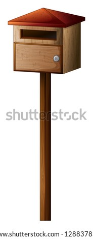 Illustration of a small mailbox on a white background