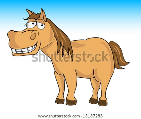 illustration of a smiling horse