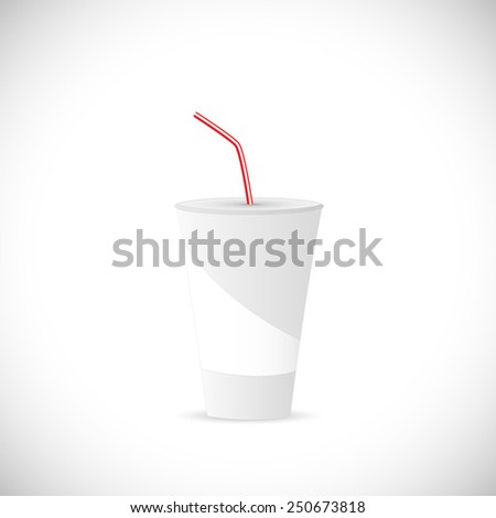 Illustration of a soda fountain drink isolated on a white background.