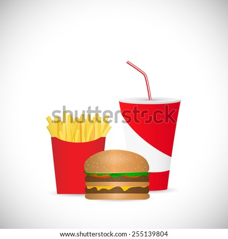 Illustration of a soda fountain drink isolated on a white background. - stock photo