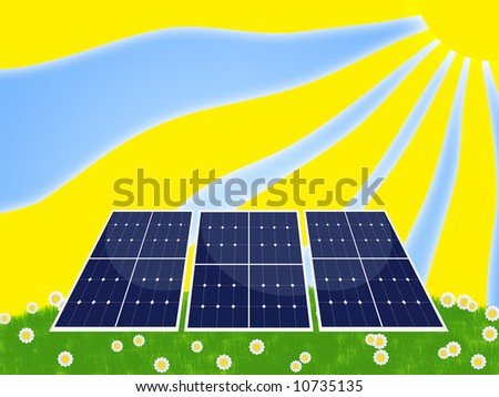Illustration of a solar panel for renewable energy