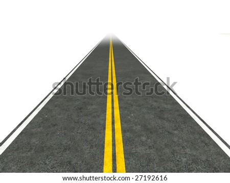 Illustration of a straight road disappearing into the distance. - stock photo