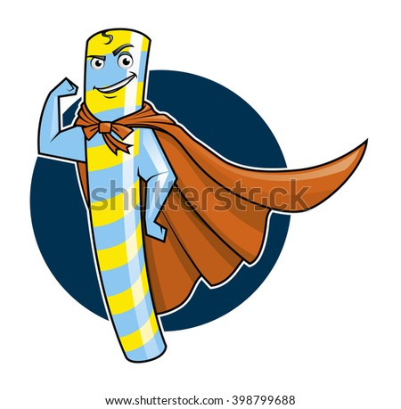 Illustration of a Super Candy mascot - stock photo