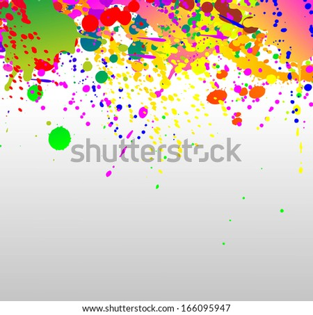 illustration of a surface covered with different paint