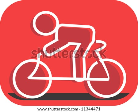 Illustration of a symbol of athlete in cycle