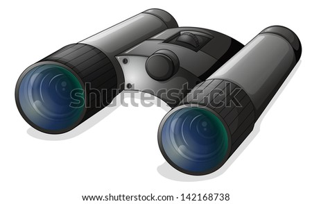 Illustration of a telescope on a white background - stock photo