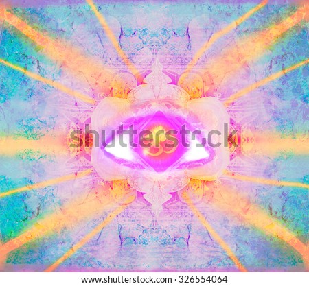 illustration of a third eye mystical sign - stock photo