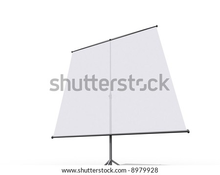 Illustration of a tripod projection screen