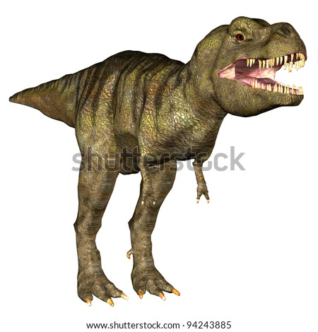 Illustration of a Tyrannosaurus Rex (T-Rex) isolated on a white background