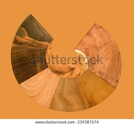 illustration of a variety of wood samples - stock photo