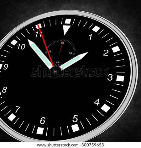 Illustration of a watch with free space