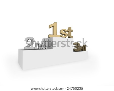 Illustration of a winners podium.