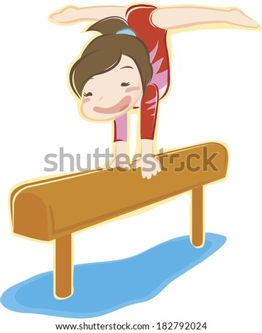 Illustration of a woman doing gymnastics