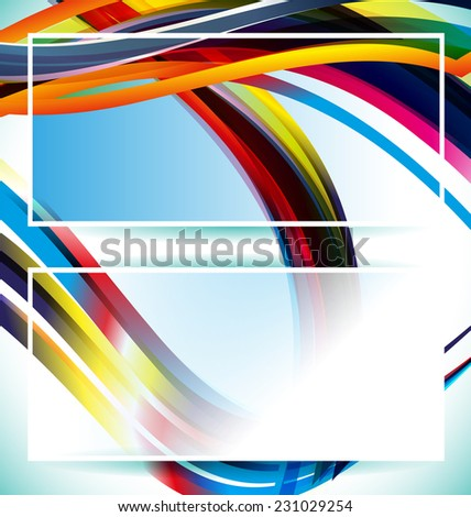 Illustration of abstract background design banner