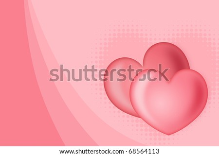 Illustration of abstract background of c by two hearts