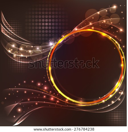 illustration of abstract brown background with light effects - stock photo
