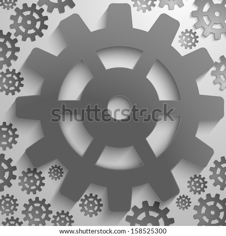 illustration of abstract design with in cog wheel and copy space. - stock photo