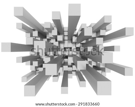 Illustration of abstract mosaic 3d grey background  - stock photo