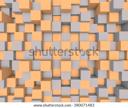 Illustration of abstract mosaic three-dimensional background