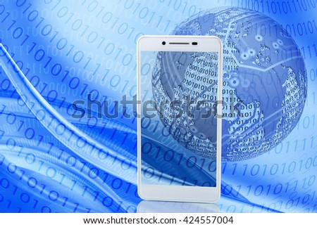 illustration of abstract technological background closeup