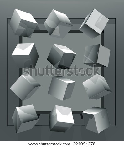 illustration of abstract with geometrical shapes
