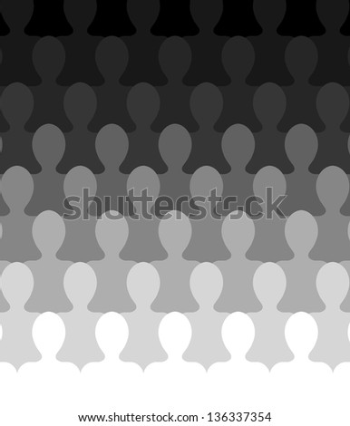 Illustration of an abstract Audience - stock photo
