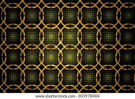 Illustration of an abstract fractal background with a geometrical pattern - stock photo
