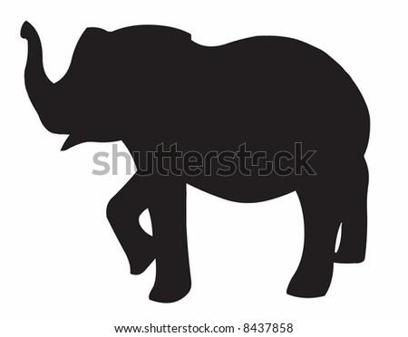Illustration of an elephant - stock photo