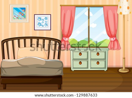 Cartoon Bedroom Stock Images Royalty Free Images